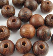 Round Carved Wooden Robles Beads 8mm